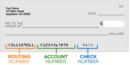 Routing or Account number